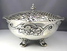 Whiting Sterling Silver Footed Bowl Centerpiece