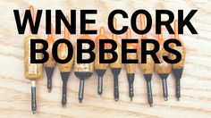How to make fishing bobbers (floats) from wine corks. These are slip-style bobbers. Drill Lathe Video:…