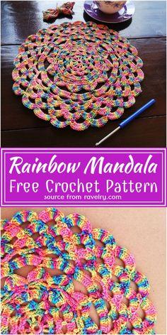 Flower Applique Patterns, Crochet Blanket Patterns, Crochet Rugs, Filet Crochet, Unique Crochet, Beautiful Crochet, Doily Art, Crochet Home Decor, Mandala Pattern
