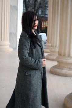 My grey coat - The Rawscientist Winter Coat, High Neck Dress, Watch, Grey, Youtube, Dresses, Fashion, Turtleneck Dress, Gray