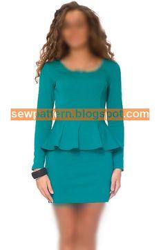 باترون مفصل لفستان قصير - Sew Pattern