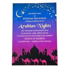 Arabian Night Invitation