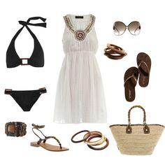 """white & chocolate"" by coastalstyleblogspot on Polyvore"