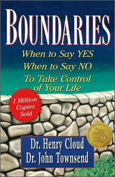 "One of the books I'm reading as part of my therapy is ""Boundaries"" by Dr. Henry Cloud and Dr. John Townsend. Itbasically teaches you about setting and maintaining healthy boundaries with yourself a..."