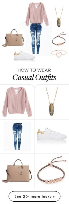 """Casual"" on Polyvore featuring adidas, Jacquie Aiche, Monica Vinader, Love Is and Lodis"
