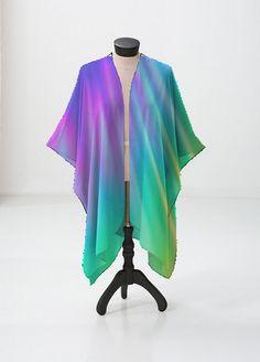 Cashmere Silk Scarf - Purple night bloom by VIDA VIDA isTDHX
