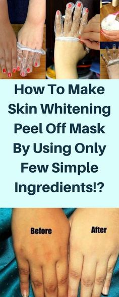 How To Make Skin Whitening Peel Off Mask By Using Only Few Simple Ingredients?!