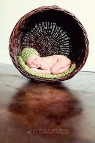 I likes this- doesn't freak me out too much, but still uses a basket in a neat, different way