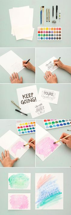 Psst! You can totally DIY these watercolor cards that reveal a secret message.