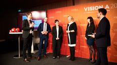 Den Preis entgegen nahmen: (v.l.) Thilo Kölzer (Antwerpes, Vorstand), Sonja Däge…