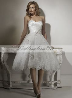 Dropped waist Sleeveless Satin Perfect bridal gown a-girl-can-dream