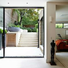 a tour around this stylish London home Basement conversion Cellar Conversion, Basement Conversion, Small Basement Bathroom, Bathroom Ideas, Modern Basement, Basement Kitchen, Basement Apartment Decor, Apartment Ideas, Basement Entrance