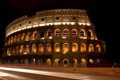 The Colosseum at night, Rome - Italy