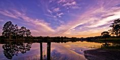 Pet Dam or Pet Reservoir Ridgley #Tasmania #sunset Photo by Carol Haberle, article for think-tasmania.com