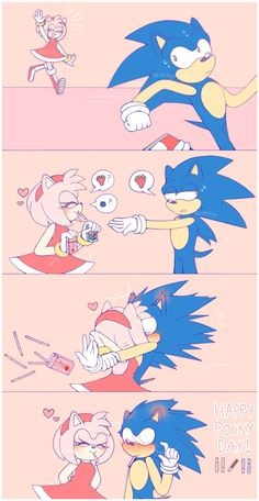 So much for escaping Amy this time Sonic. Amy Rose, Sonic The Hedgehog, Shadow The Hedgehog, Sonic E Amy, Sonamy Comic, Sonic Underground, Sonic Unleashed, Sonic Funny, Sonic Mania