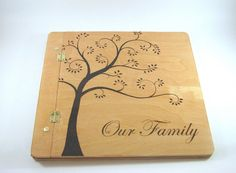12x12 Scrapbook Photo Album  Creative Wood by bkinspired on Etsy #family #scrapbook #pyrography