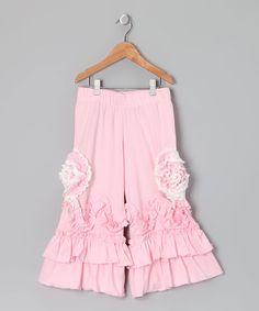 Pink Ruffle Pants - Toddler & Girls