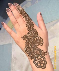 50 Most beautiful Manali Mehndi Design (Manali Henna Design) that you can apply on your Beautiful Hands and Body in daily life. Henna Flower Designs, Pretty Henna Designs, Mehndi Designs For Kids, Henna Tattoo Designs Simple, Mehndi Designs Feet, Back Hand Mehndi Designs, Latest Bridal Mehndi Designs, Mehndi Designs Book, Mehndi Designs 2018
