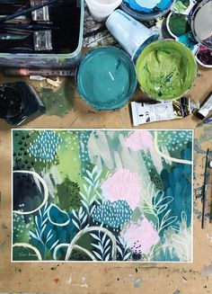 Tools of the trade — Clair Bremner Abstract Watercolor, Abstract Art, Creative Arts Therapy, Art Techniques, Painting & Drawing, Art Projects, Illustration Art, Artsy, Artwork