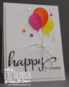 Stamping with Loll: Happy Birthday Balloons