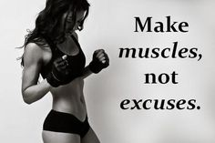 Make muscles, not excuses. #girlboxer #fitness #inspiration