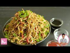 Veg Chowmein Recipe in Hindi   Veg Noodles   Hakka Noodles   Quick,Easy, Homemade   Chef Kunal Kapur - YouTube Vegetarian Chinese Recipes, Indo Chinese Recipes, Chinese Food, Veg Chowmein, Hakka Noodles Recipe, Paneer Curry Recipes, Vegetable Noodles, Noodle Recipes, Popular Recipes