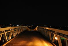 Walking bridge at night. After Dark, Bridge, Walking, Night, Street, Jogging, Woking, Roads, Bro