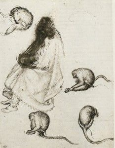 Chapter Two: Fifteenth Century. Pisanello, Seated Pilgrim and Four Monkeys. Pen and ink, traces of black chalk, x cm. History Of Drawing, How To Make Drawing, Love Drawings, Pilgrim, Monkeys, 18th Century, Louvre, Ink, Paris