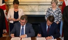 Tory-DUP £1bn deal may breach equality duties, says NI rights group Committee on the Administration of Justice questions whether funds would be allocated on non-partisan basis in line with Good Friday agreement