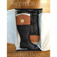 "Selling this ""NWT RALPH LAUREN JADEN RIDING BOOTS"" in my Poshmark closet! My username is: meghanxxx. #shopmycloset #poshmark #fashion #shopping #style #forsale #Ralph Lauren #Boots"