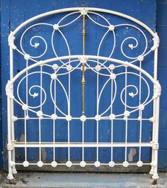 Antique Iron Beds, Wrought Iron Beds, Iron Headboard, Cozy Bedroom, Bed Frame, Comforters, Bee, Victorian, Antiques