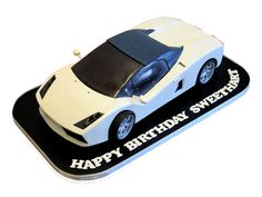Spyder Gallardo Lamborghini Cake Any motor car fanatic will dream of having a cake like this and our birthday man received one at the Ammos restaurant for his 40th birthday! A fancy designer car can only stand on pitch black, so we created a rectangular shaped base with a pearly white border to get the mood going. We then set out to create a perfect replica of the iconic ..... http://cmnycakes.com/gallery2/v/Cakes+For+All+Occasions/Spyder+Gallardo+Lamborghini+Cake.html