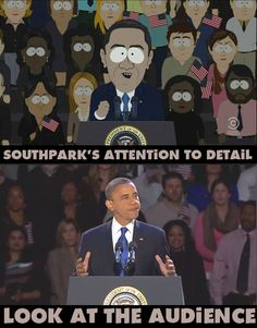 Commitment to Satirical Excellence ~ Let us take a moment to appreciate the level of commitment South Park puts into their work. This is just one example of how they are leagues beyond most satirical cartoons, and yet if Family Guy or Simpsons did this I would probably not care at all.
