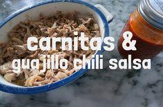 racheerachh eats: Carnitas & Guajillo Chili Salsa