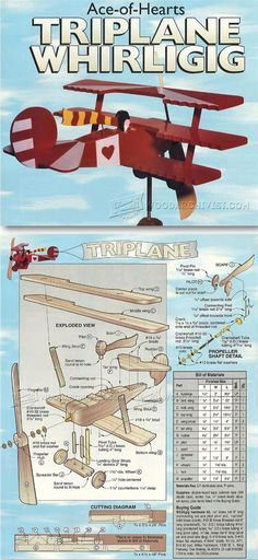 Triplane - Whirligig Plans - Outdoor Plans and Projects | WoodArchivist.com