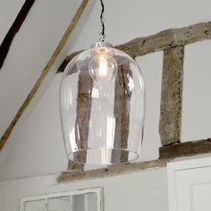 Lansdown Glass Pendant Light in Antiqued Brass Dome Ceiling, Ceiling Rose, Ceiling Pendant, Ceiling Lights, Pendant Lights, Clear Glass Pendant Light, Glass Pendants, Window Furniture, Kitchen Pendant Lighting