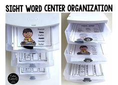 Sight Word Center/Word Work organization