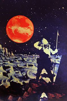 First man on the Moon, Russian art (1929)
