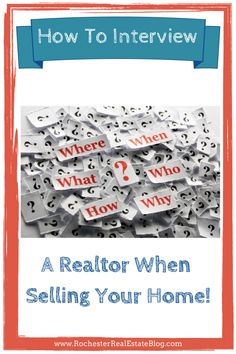 How to Interview a Realtor When Selling Your Home. #realtorinterview