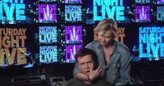 Charlize Theron nearly kills Taran Killam using a stunt move in 'SNL' promo Snl News, Charlize Theron, Stunts, Concert, Waterfalls, Concerts