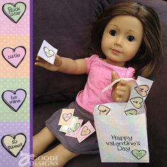 Valentine printables for dolls