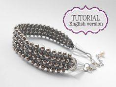 Silver Metallic Caviar Micro Macrame Bracelet