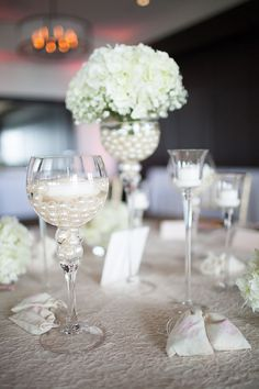 flower pearl centerpiece