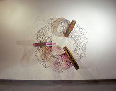 Hir-Memento, 2015 Steel, plexiglass 73 x 72 x 36 inches  By artist Chad Waples