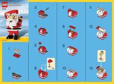 LEGO 30182 Santa instructions displayed page by page to help you build this amazing LEGO Creator set Lego Christmas Ornaments, Lego Christmas Village, Xmas, Christmas Tree, Lego Advent Calendar, Lego Duplo, Legos, Lego Therapy, Lego Decorations