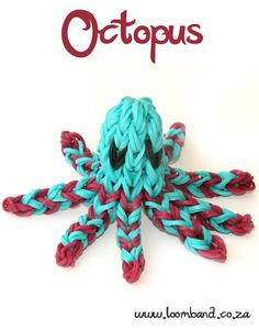 Octopus Loom Band Tutorial, http://loomband.co.za/octopus-loom-band-tutorial/