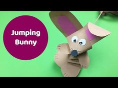 (69) Jumping rabbit easy DIY for kids. Ideal as craft for easter too! - YouTube