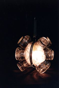 Lamp / found objects. Exercici reciclant objectes. IADE 1997