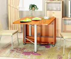 folding dining table design for small rooms