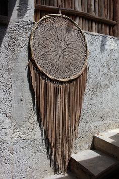 100% real suede leather and crochet dream catchers, made in Mexico by DreamsMexico on Etsy https://www.etsy.com/uk/listing/522710566/100-real-suede-leather-and-crochet-dream